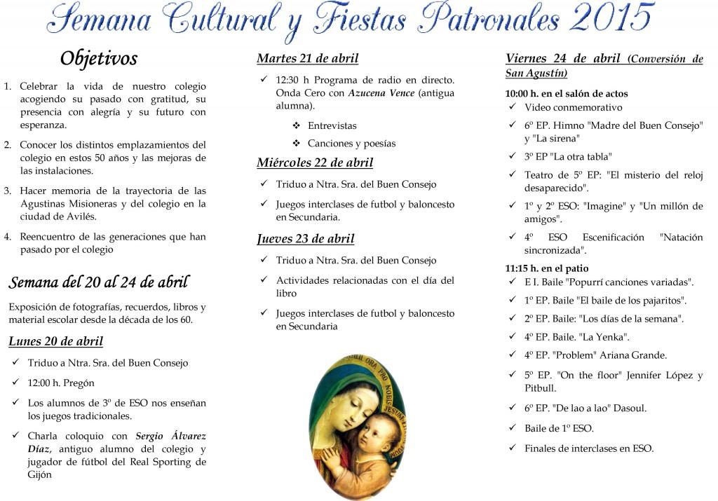 Tríptico Semana Cultural